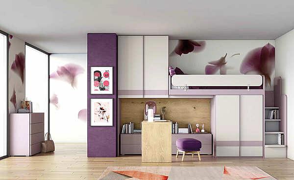 """Bedroom GRANZOTTO Composizione """"DOMINO"""" IRONWOOD"""